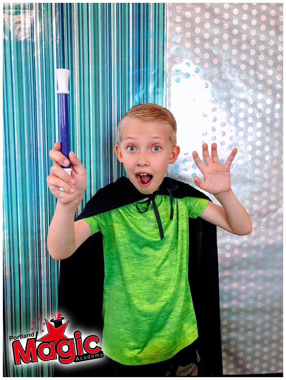 kid with magic wand