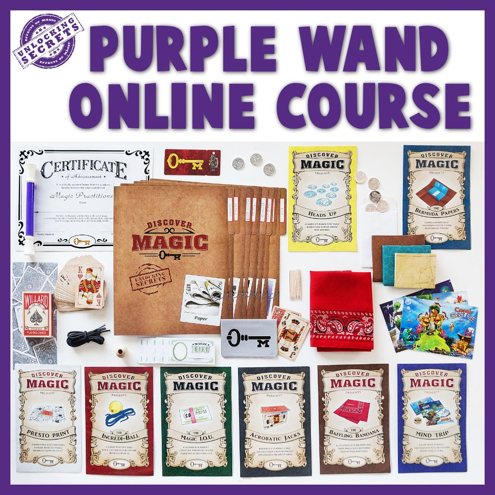 Purple Wand Online Magic Class Full Layout