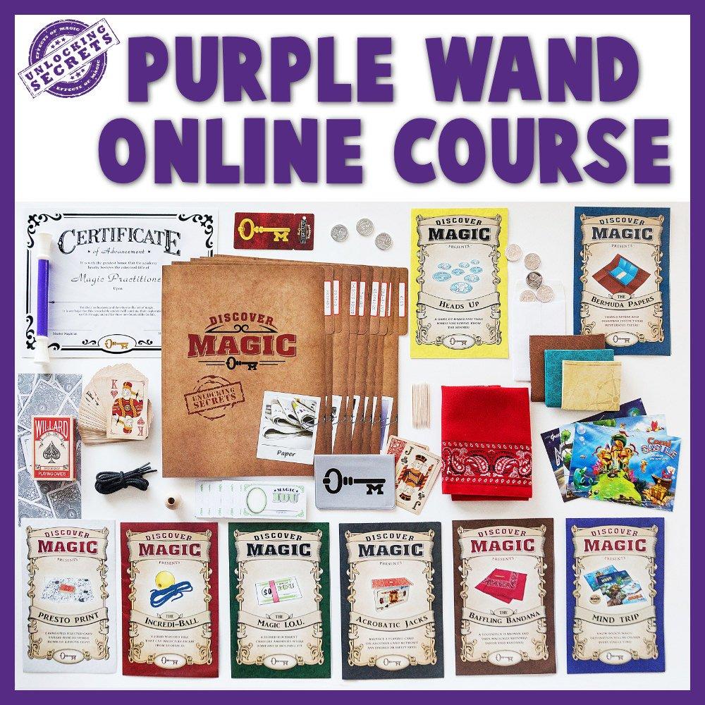 Purple Wand Online Magic Class Full Layout